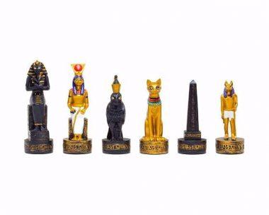 """Jeu d'Echecs en Résine """"Egypte Ancienne"""""""